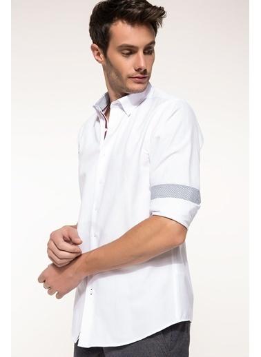 DeFacto Modern Fit Uzun Kollu Gömlek Beyaz